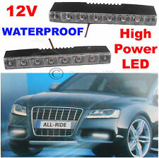 Pair 2X 12V Waterproof A6 Car DRL 12 White LED Day Front Fog Lamps Lights 8033