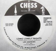 """Lee Andrews - LONG LONELY NIGHTS - TEARDROPS - Promo Vinyl 7"""" Single  [1984]"""