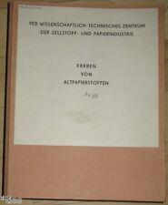 VEB Zellstoffwerk Heidenau Färben von Altpapier Katalog Farbstoffe DDR 1980