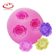 Silicone 3D Rose Flower Mould Clay Candy Cake Chocolate Mold Fondant Decorating