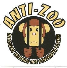 300 Anti Zoo Aufkleber stickers Punk HC sXe Vegan Animal Liberation Tofu ALF