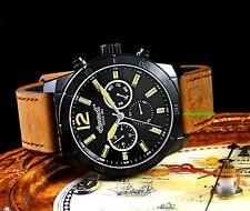 Ingersoll Men's Lincoln Collection Quartz Black IP Case Brown Luxury Watch