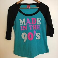 Made In the 90s baseball tee Juniors Medium Retro T Shirt Top