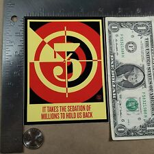 OBEY It Takes A Sedation of Millions To Hold Us Sticker Street Art Free Shipping