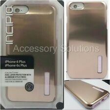 Incipio DualPro SHINE Apple iPhone 6S Plus Brushed Aluminium Case Rose Gold Pink