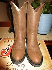 Men's Justin Farm & Ranch Crazy Cow Boots NIB Size 9D