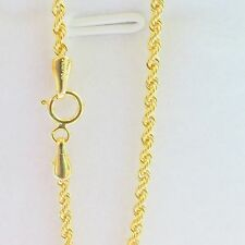 """J.Lee Pure 18K Yellow Gold Necklace Rope Link Necklace 2.32g 18"""" L"""