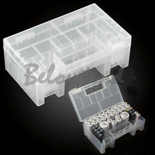 Large Hard Plastic Battery Case Holder Storage Box For AAA AA C 9V With Hook