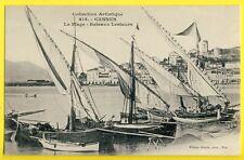 cpa 06 - CANNES (Alpes Maritimes) Marine Port VOILIERS BATEAUX LESTEURS Dockers