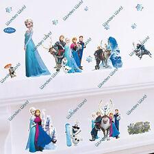 DISNEY Frozen Wall Stickers Art Mural Decal Elsa Anna Olaf Hans Prince Nursery