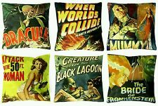 *SALE* 6 horror film cushion covers B Movie DRACULA LAGOON MUMMY FRANKENSTEIN