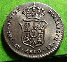 UNC ISABEL II  Proclamation  Medal  1833  MADRID 15 mm. Silver  SPAIN
