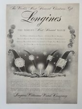Original Print Ad 1955 LONGINES Most Honored Watch Jewelry