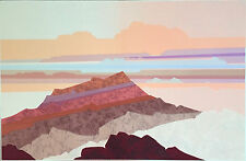 Colorful Fauvist Landscape Mountains Serigraph Pencil Signed By Steve Strickland