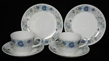 Wedgwood Clementine 2x Tea Time Trios of Cup, Saucer & Tea Plate