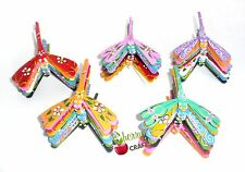 "LOT 100 SELF BALANCING  Bamboo dragonfly Decor Toy 3"" x 4"" HANDCARVED Multicolor"