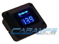 NEW BLACK XSCORPION BLUE LED CAR STEREO DIGITAL VOLTAGE METER AMP 12 VOLT POWER