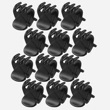Newest 12 Pcs Black Plastic Mini Hairpin 6 Claws Hair Clip Clamp for Ladies LW