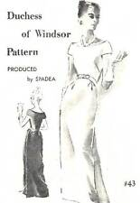 Vintage 1960s Spadea Pattern Women's LONG DRESS 43 Duchess of Windsor 12 UNUSED