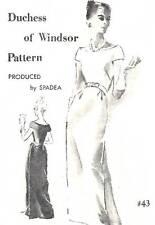 Vintage 1960s Spadea Pattern Women's LONG DRESS 43 Duchess of Windsor 12 UNUSED
