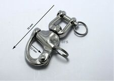 316 STAINLESS STEEL JAW SWIVEL SNAP SHACKLE Halyards Spinnaker 2-3/4""