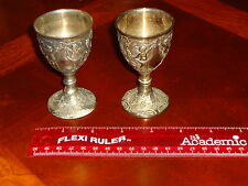 LOT 2 C & Co Corbel Silver Plate Wine Testing Goblet Cup Grecian Renaissance