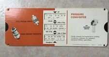 1969 Consolidated Controls Corp. Temperature & Pressure Converter Paper Chart