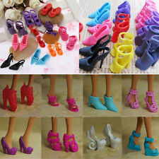 10Pairs Shoes For Barbie Doll Princess Gown Dress Clothes High Heel Sandals Shoe