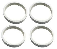 4 Pentair Letro Legend II, 4 Wheel Pool Cleaner Ribbed Tire White Part LLC1