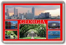 FRIDGE MAGNET - GEORGIA - Large - USA America TOURIST
