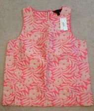 Seamed shell in plumeria jacquard #C5533 $98 Neon Pink Size 8 Shirt Top