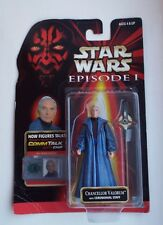 STAR WARS EPISODE 1 TPM Chancellor Valorum Commtalk Carded Figure Hasbro
