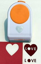 "Fiskars LOVE HEART 2"" Intricate Scrapbooking Paper Shape Punch NEW"