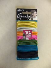 GOODY OUCHLESS NO METAL ELASTICS HAIR TIES PONYTAIL HOLDERS PK OF 47 NEW 1757335