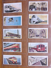 RAILWAYS OF THE WORLD  - Cadet Sweets  - 1956 -  SET OF 50 - EX/Mint