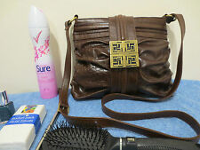 FIORELLI Brown mock croc alligator snakeskin messenger bag cross body bag hand