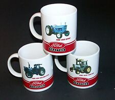 Lot of 3 Ford Tractor Coffe Mugs Ford 5000, 9600 8730 Tractors
