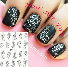 Nail Art Stickers (#Y050 ARGENTO)-Decals-Water Transfer Adesivi-Unghie-Manicure!