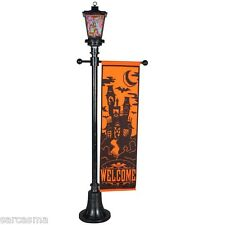 HALLOWEEN HAUNTED HOUSE LIGHTED VICTORIAN FIRE & ICE STREET LAMP POST 6 FT PROP