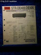 Sony Service Manual STR DE405 / DE505 Receiver  (#2520)