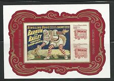 2014 #4905b Vintage Circus Souvenir Sheet Imperf Without Die Cuts