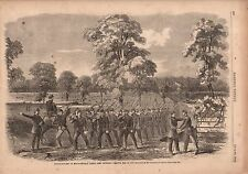 1862 Harpers Weekly Print - Pope's Advance-Guard entering Corinth Mississippi