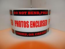 50 PHOTOS ENCLOSED DO NOT BEND FOLD CRIMP OR CREASE sticker label red/black