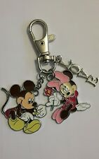 Mickey and Minnie Flowers Keyring