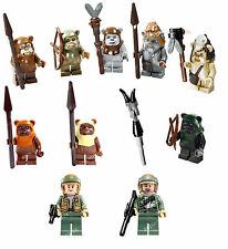 NEW LEGO Star Wars 10236 7956 8038 EWOK REBEL ENDOR SET 10 Minifigures Figures