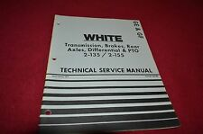 White Oliver Tractor 2-135 2-155 Transmission Brakes PTO Service Manual YABE8