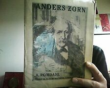 Romdahl Axel: Anders Zorn - Paris, Floury, 1923. In-4, broché, 119 Planches., co
