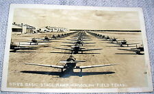 Vintage Basic Stage Ramp, Randolph Field TX, Real Photo Postcard - WWII Planes
