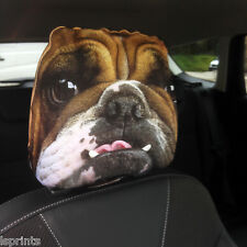 CAR SEAT HEAD REST COVERS 2 PACK BRITISH BULLDOG DESIGN MADE IN YORKSHIRE
