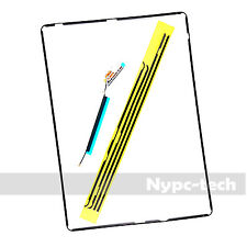 Digitizer Screen Bezel Plastic Middle Frame for iPad 2 3 4 +Adhesive &wifi Cable